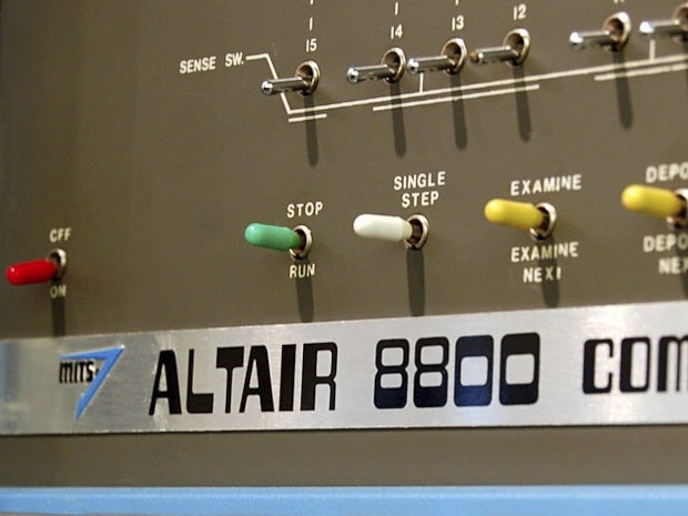 Picture of an Altair 8800 computer