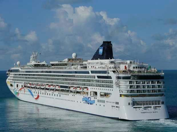 A large ocean liner at sea