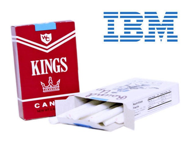IBM/Candy cigarettes