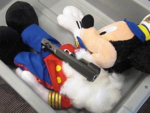 Mickey's packin'.