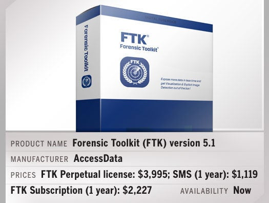 Forensic Toolkit (FTK) version 5.1