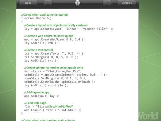 AndroidScript programming IDE