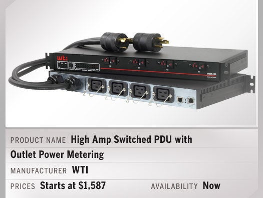 High Amp Switched PDU with Outlet Power Metering