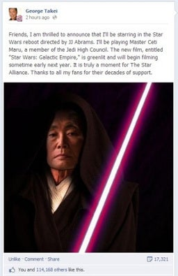 George Takei in Star Wars