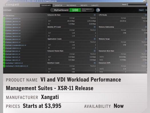 Xangati VI and VDI Workload Performance Management Suites - XSR-11 Release