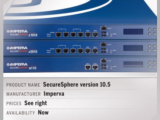Imperva's SecureSphere version 10.5 5