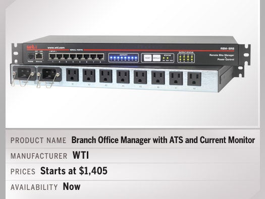 Branch Office Manager with ATS and Current Monitor