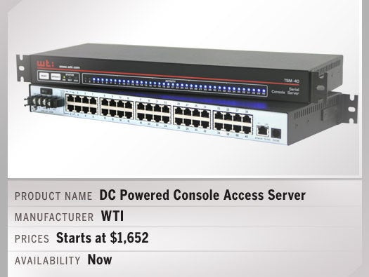 DC Powered Console Access Server