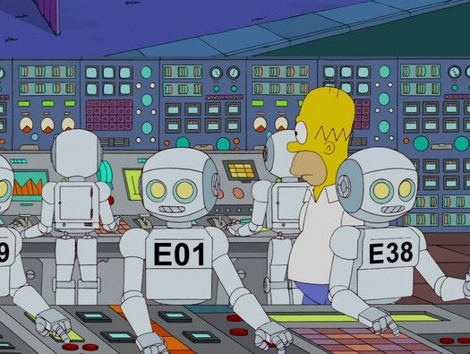 Simpsons do robotics