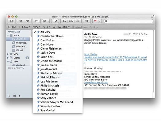 OS X Mountain Lion Mail