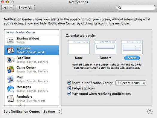 OS X Mountain Lion Notifications