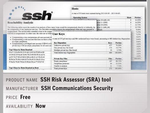 SSH Risk Assessor (SRA) tool