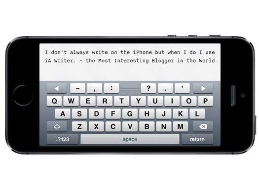 iA Writer (iPhone, iPad and iPod touch)