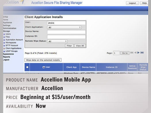 Accellion Mobile App