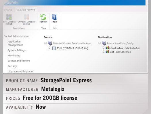 Metalogix StoragePoint Express