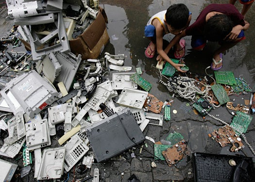 discarded electronic equipment