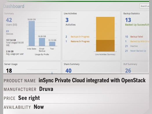 inSync Private Cloud integrated with OpenStack
