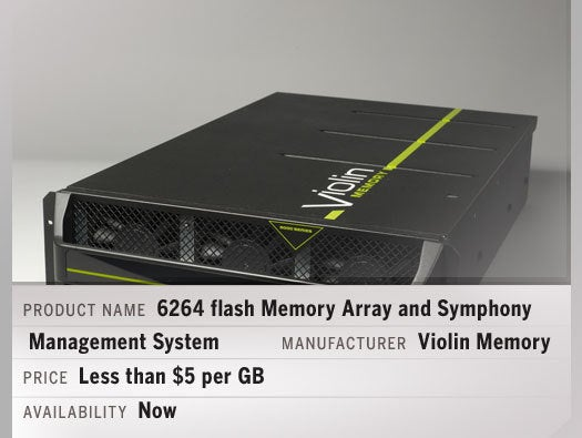 6264 flash Memory Array and Symphony Management System