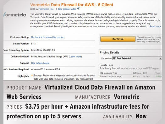 Virtualized Cloud Data Firewall on Amazon Web Services
