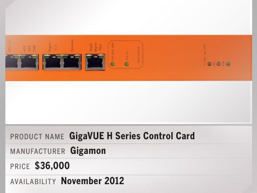 GigaVUE H Series Control Card