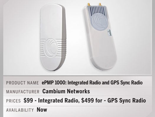 ePMP: 1000 GPS Sync Radio and ePMP 1000 Integrated Radio