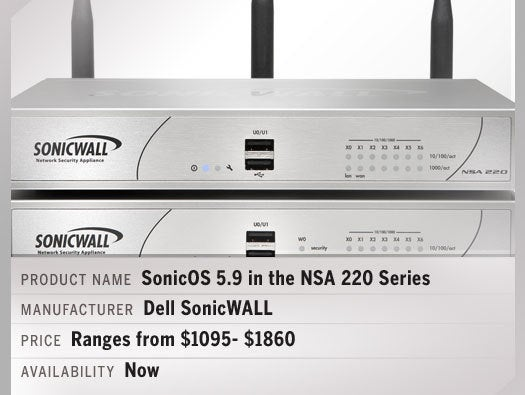 Dell SonicWALL SonicOS 5.9 in the NSA 220 Series