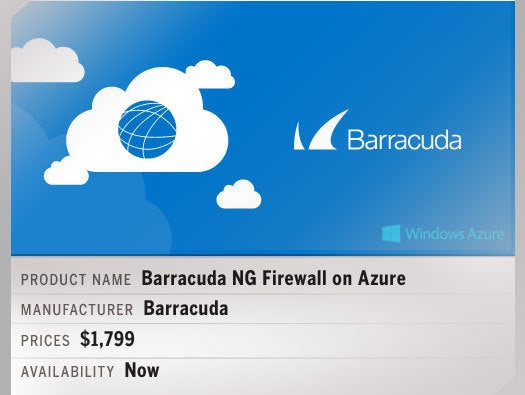 Barracuda NG Firewall on Azure