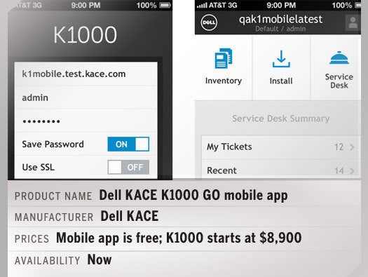 Dell KACE K1000 GO mobile app