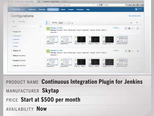 Skytap's CI Plugin for Jenkins