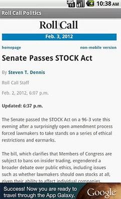 Roll Call Politics (iOS/Android)