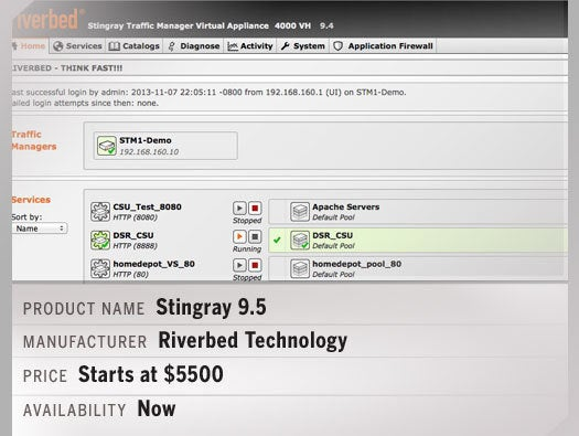 Riverbed Stingray 9.5 traffic manager software