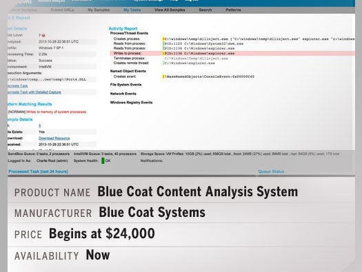 Blue Coat Content Analysis System