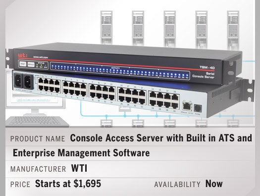 Console Access Server with Built in ATS and Enterprise Management Software