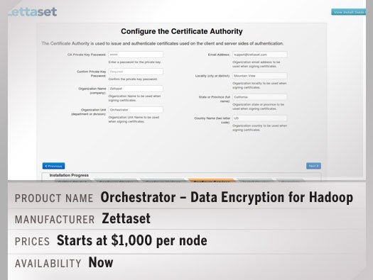 Zettaset Orchestrator – Data Encryption for Hadoop