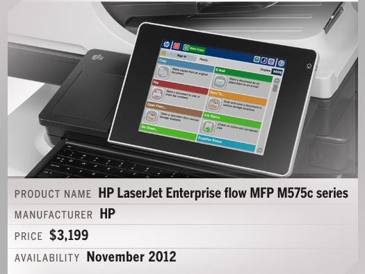HP LaserJet Enterprise flow MFP M575c series