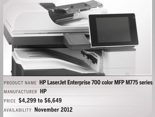 HP LaserJet Enterprise 700 color MFP M775 series