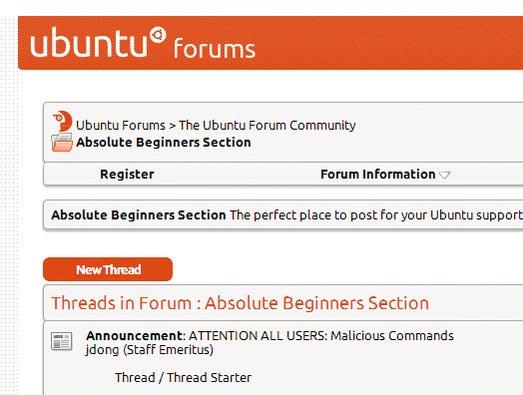 Ubuntu forums