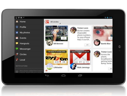 Google+ for Android Tablets