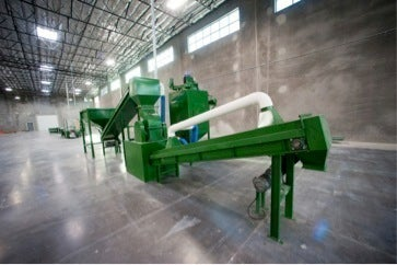 CRT pulverizor/granulator air filtration system
