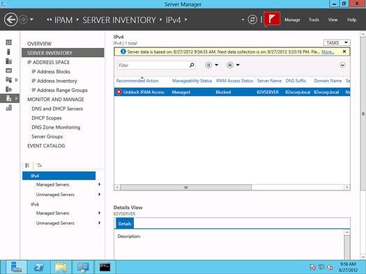 Windows Server 2012 - IP address management