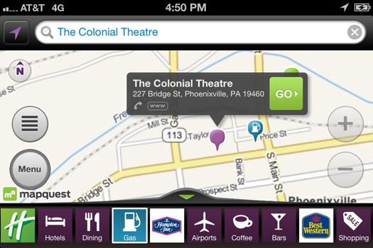 MapQuest app