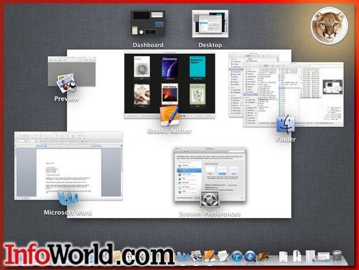 OS X Mountain Lion Mission Control preview clustering
