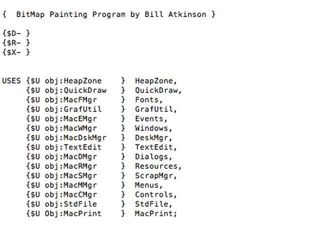 Sample MacPaint source code