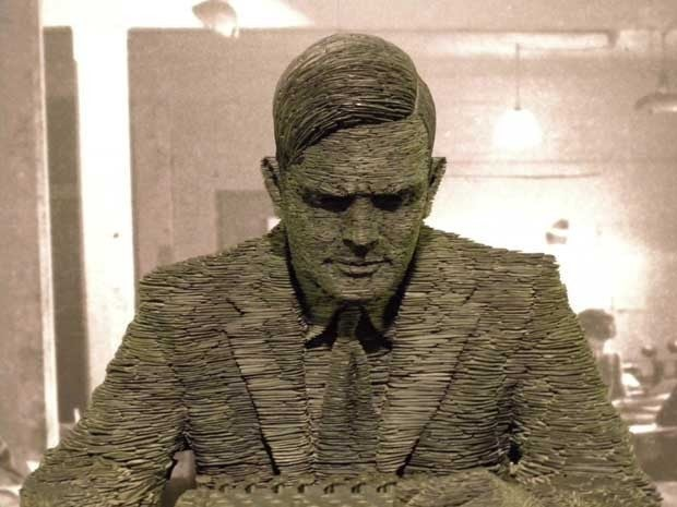 Photo of a sculpture of Alan Turing