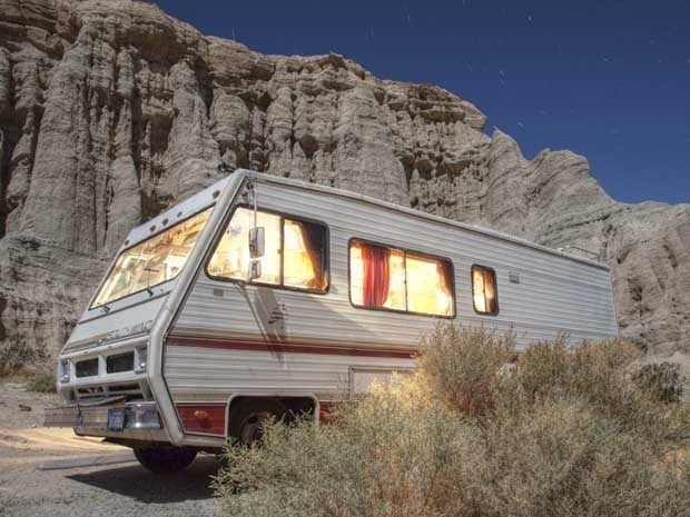 An RV at Redrock Canyon State Park