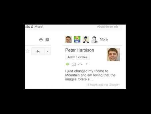 Google Gmail people widget