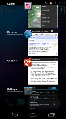 Android 4.0 Recent Apps tool