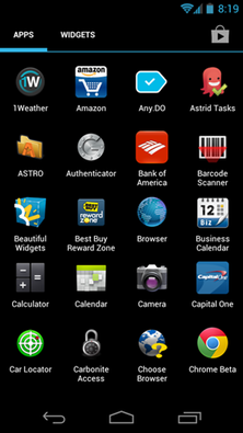Android app drawer