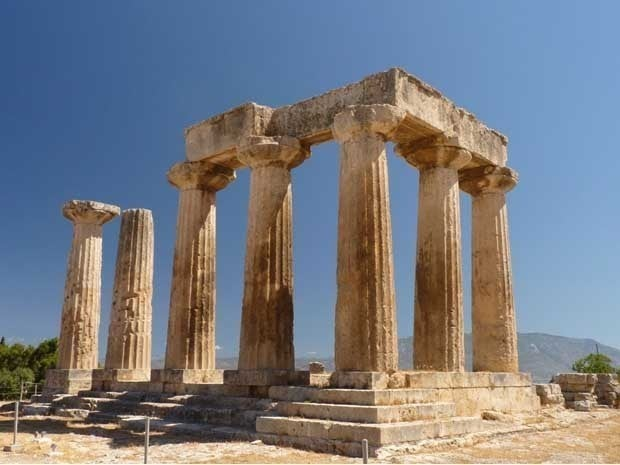 A picture of ancient Greek ruins