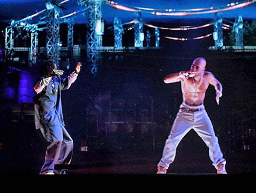 holograms, Tupac Shakur and Snoop Dogg